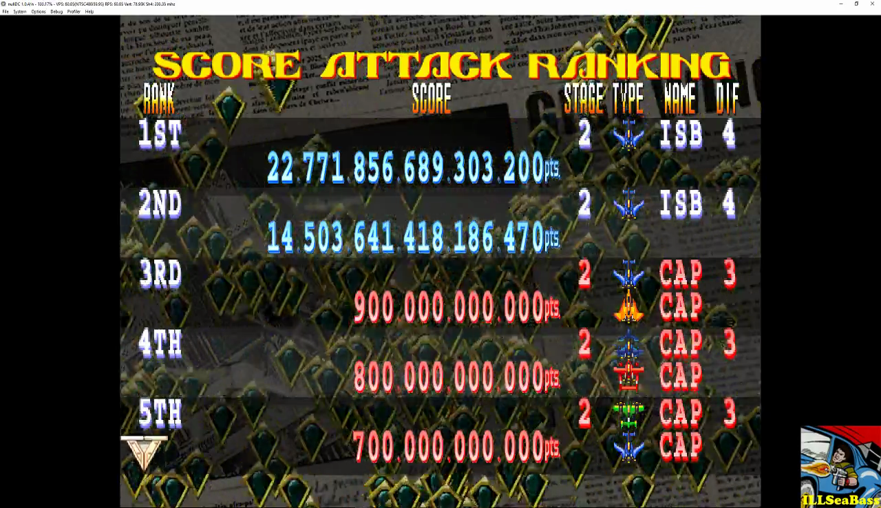 Giga Wing 2: Score Attack: Stage 2 22,771,856,689,303,200 points