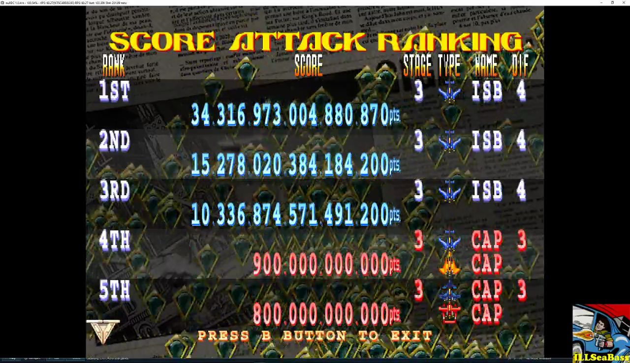 Giga Wing 2: Score Attack: Stage 3 34,316,973,004,880,868 points