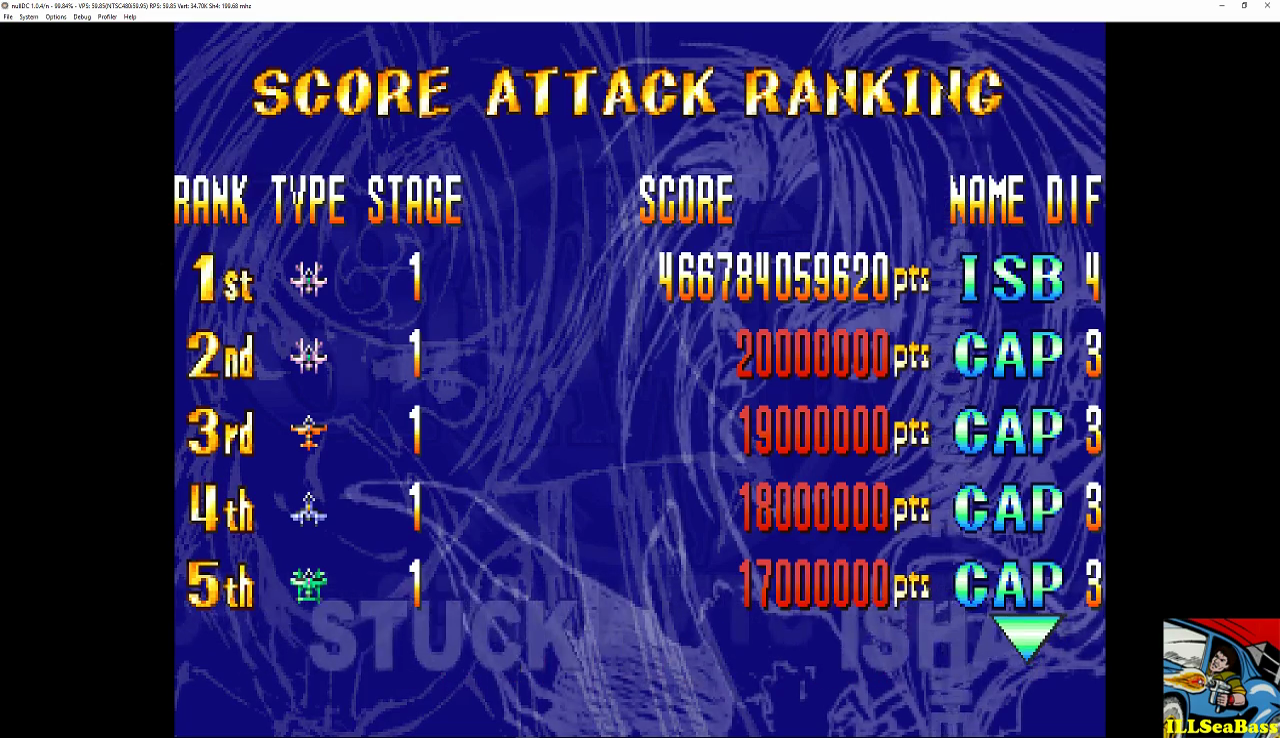 ILLSeaBass: Giga Wing: Score Attack: Stage 1 (Dreamcast Emulated) 466,784,059,620 points on 2016-12-31 00:11:33