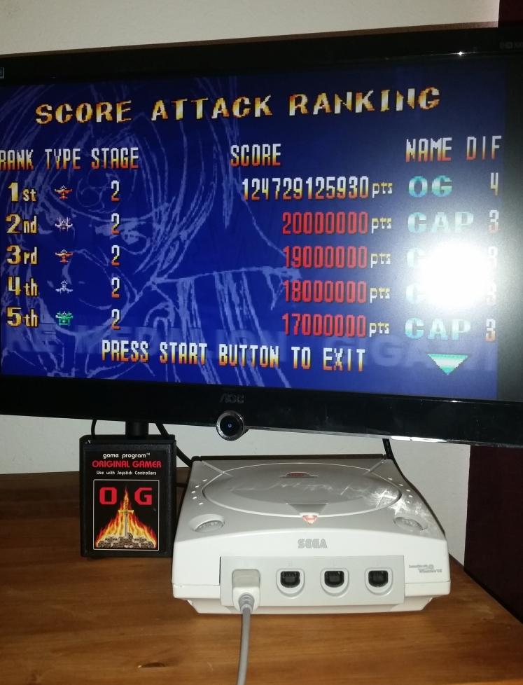 OriginalGamer: Giga Wing: Score Attack: Stage 2 (Dreamcast) 124,729,125,930 points on 2016-05-16 01:54:06