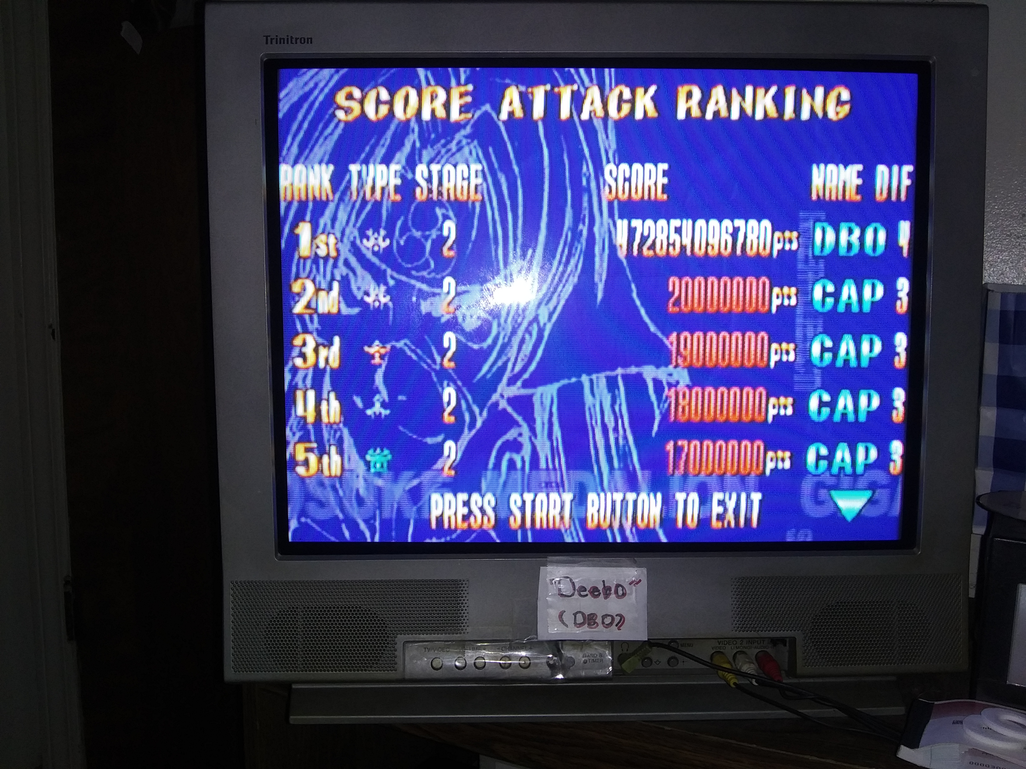 Deebo: Giga Wing: Score Attack: Stage 2 (Dreamcast) 472,854,096,780 points on 2019-03-20 21:48:33