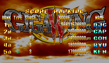 Giga Wing [gigawing] 36,631,578,600 points