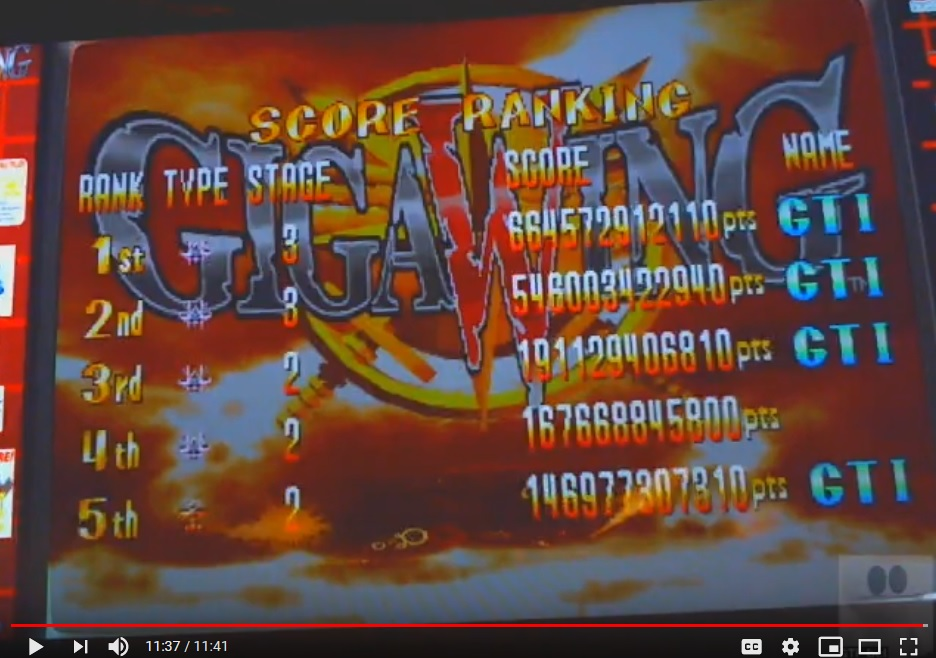 Giga Wing [gigawing] 664,572,912,110 points