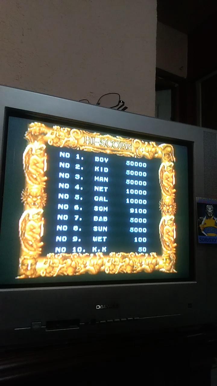 Sdrgio797: Gladiator [gladiatr] (Arcade Emulated / M.A.M.E.) 9,100 points on 2020-08-06 13:39:25