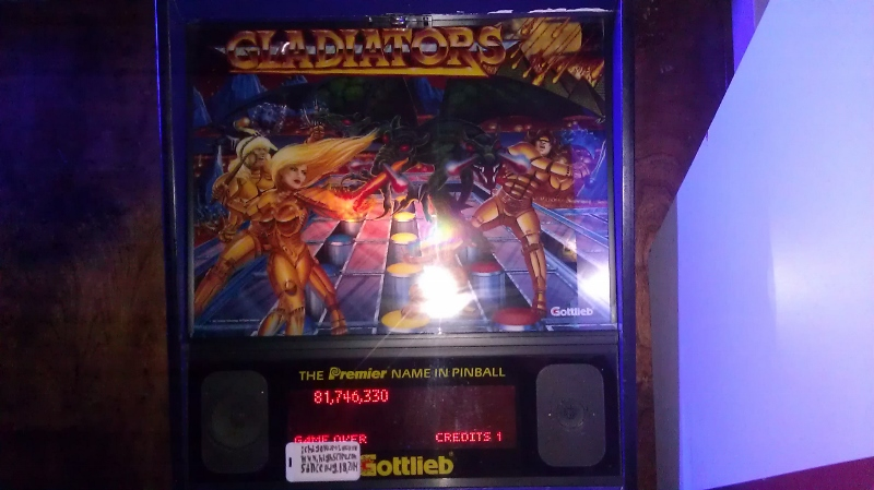 ichigokurosaki1991: Gladiators (Pinball: 3 Balls) 81,746,330 points on 2016-04-15 23:33:06