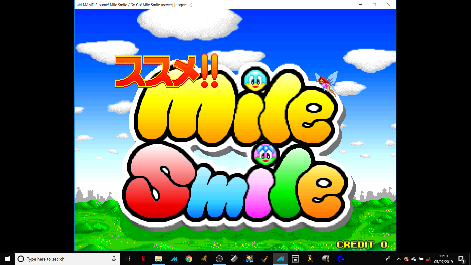 ministorm04: Go Go! Mile Smile [gogomile] (Arcade Emulated / M.A.M.E.) 202,460 points on 2019-07-08 12:17:15