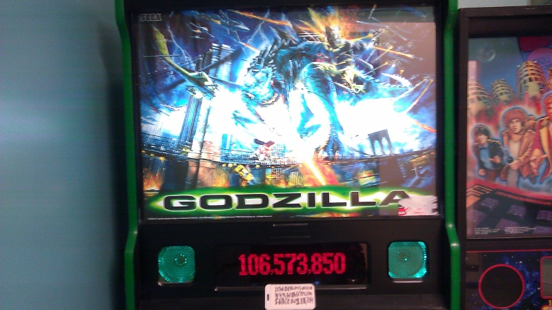 ichigokurosaki1991: Godzilla (Pinball: 3 Balls) 106,573,850 points on 2016-04-07 00:09:58