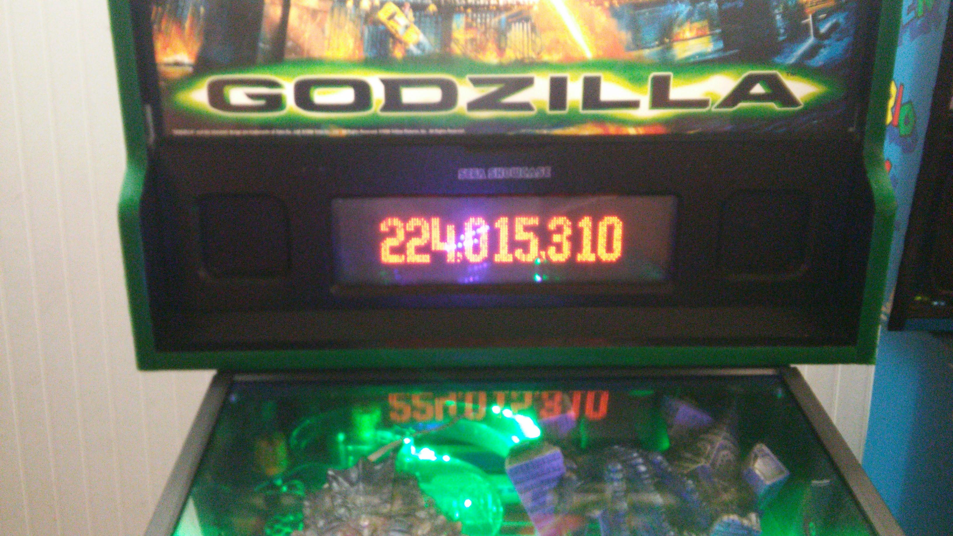 Godzilla 224,015,310 points