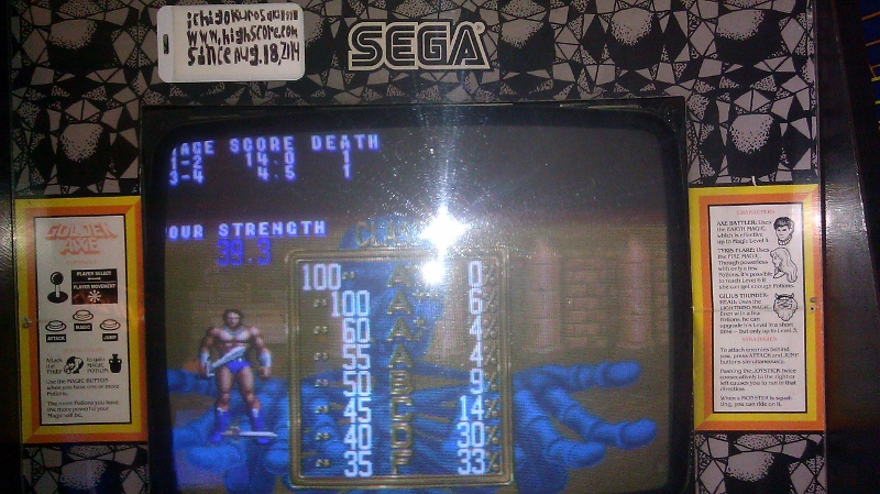 Golden Axe 18 points