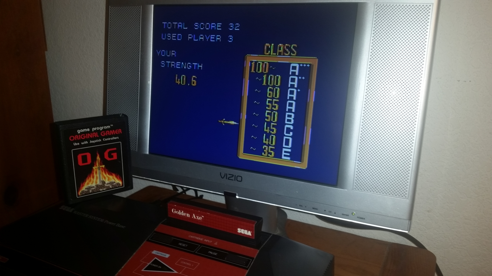 OriginalGamer: Golden Axe (Sega Master System) 32 points on 2016-11-18 00:15:03