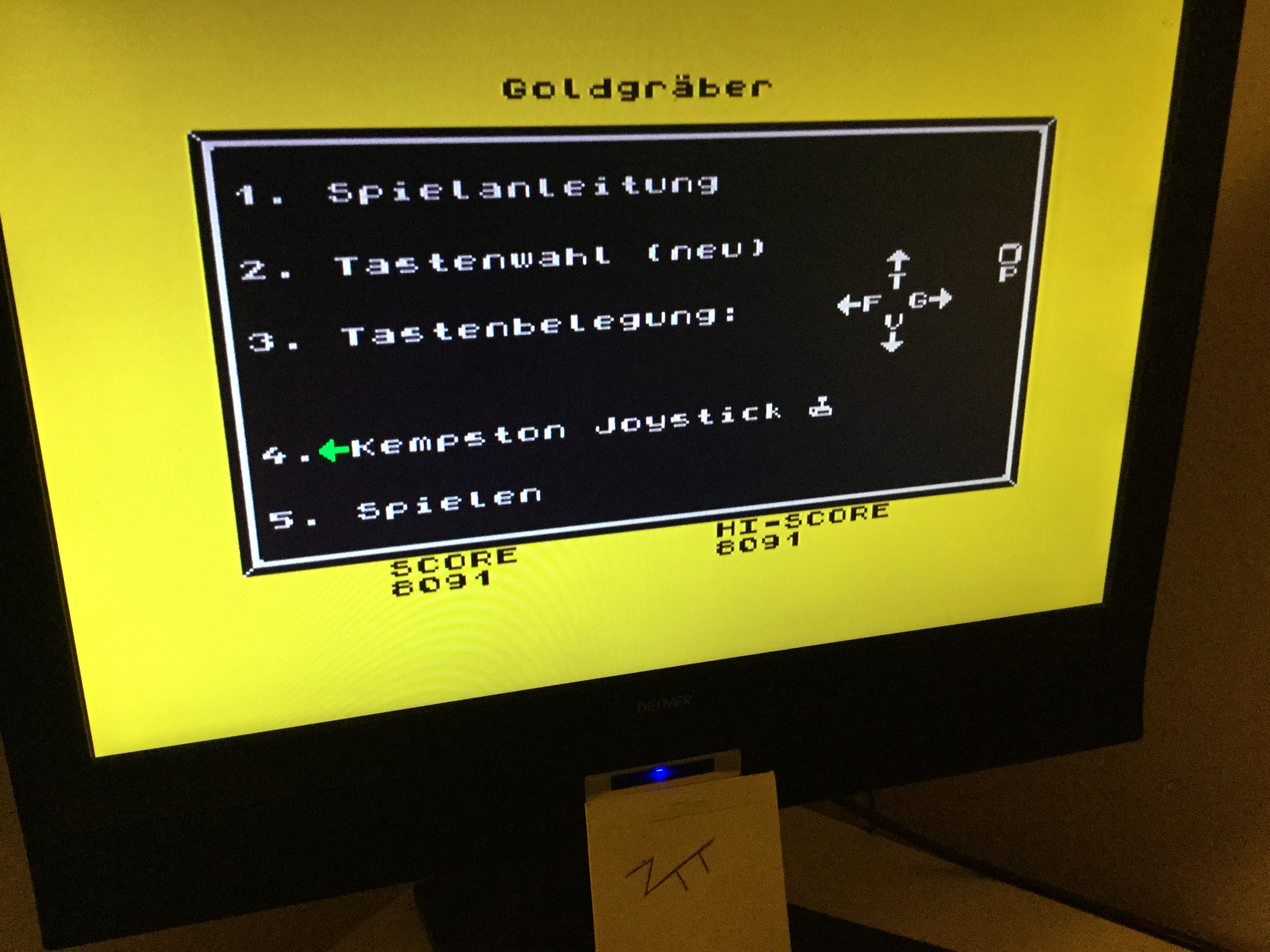 Frankie: Goldgräber (ZX Spectrum) 8,091 points on 2020-03-20 07:39:43