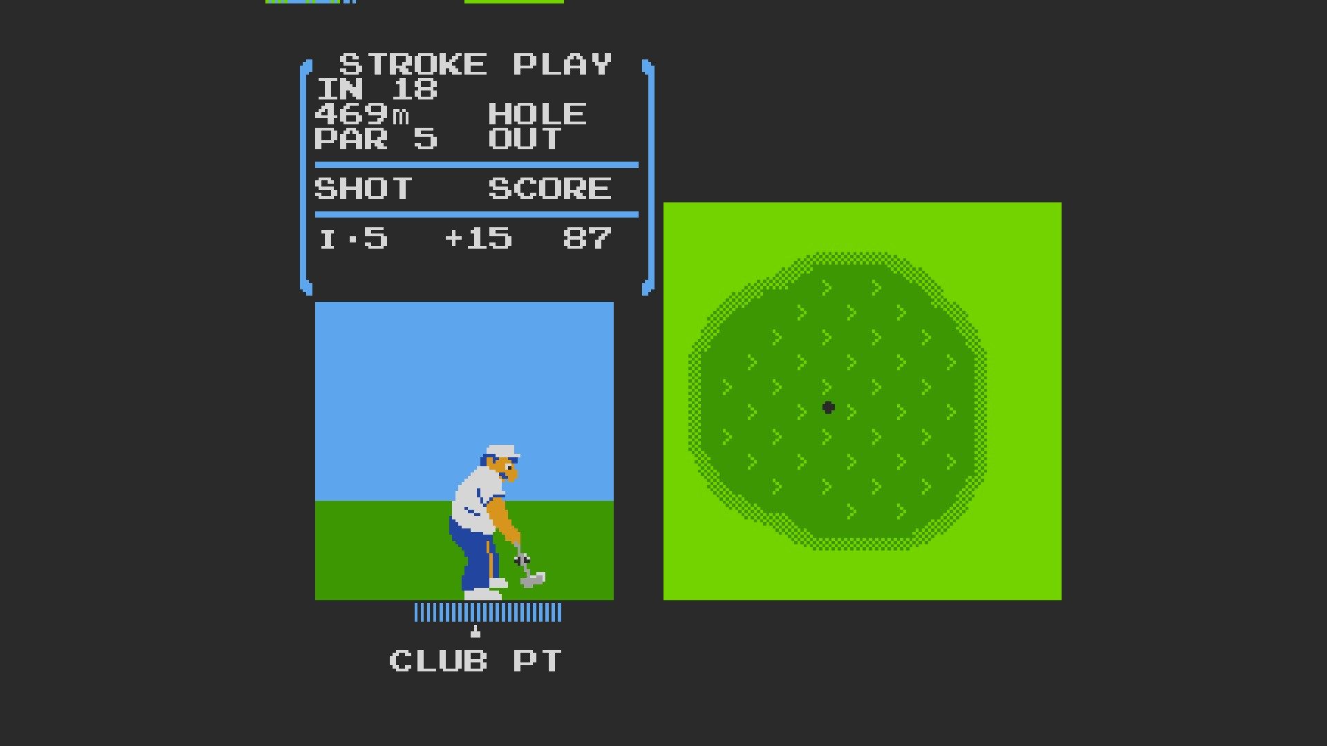 AkinNahtanoj: Golf [Single player stroke play] (NES/Famicom Emulated) 87 points on 2020-09-23 06:27:31