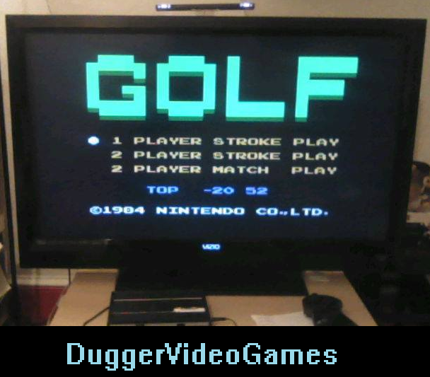 DuggerVideoGames: Golf [Single player stroke play] (NES/Famicom Emulated) 52 points on 2016-03-28 22:06:58