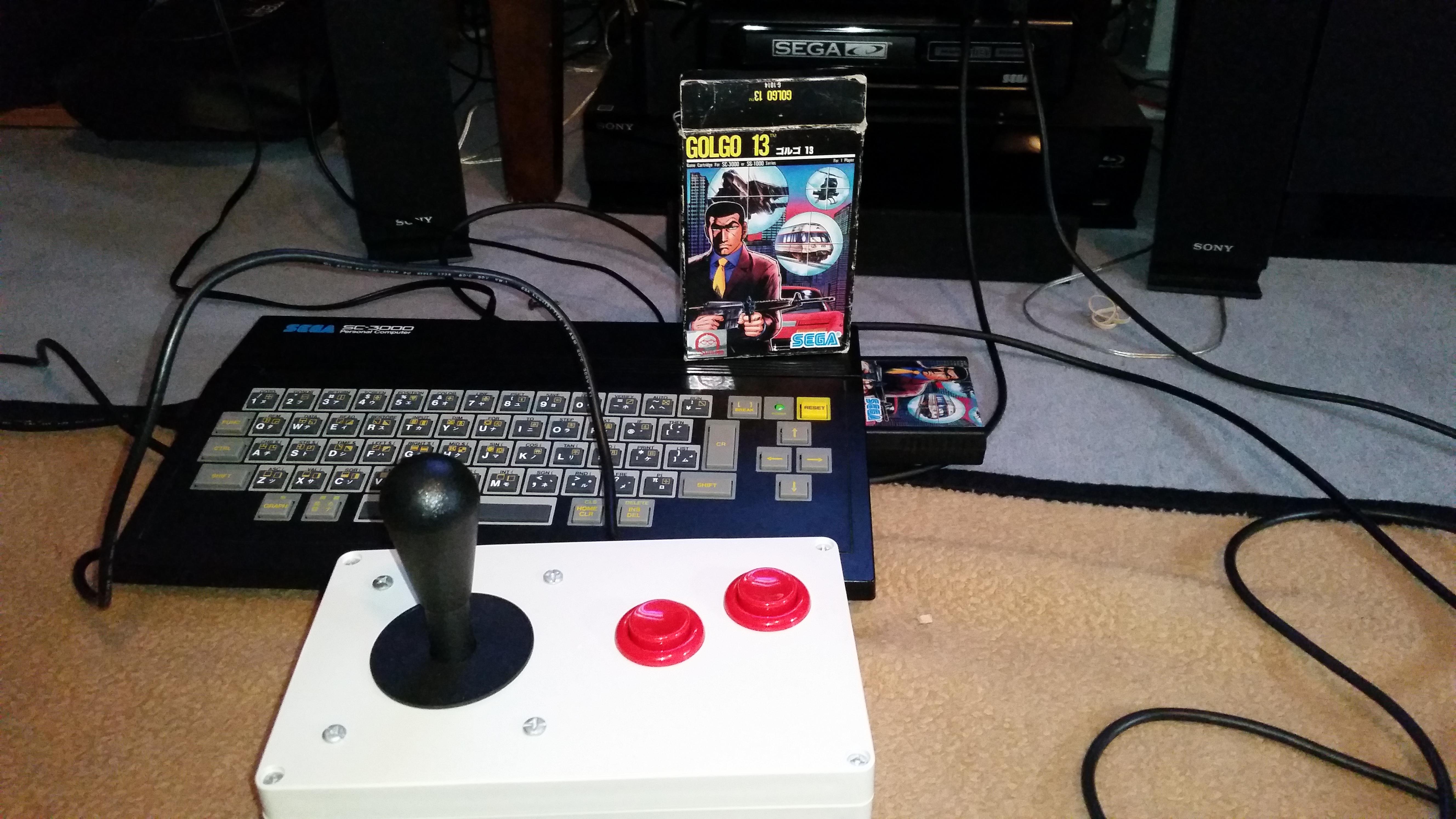 RedMage: Golgo 13 (Sega SG-1000) 55,950 points on 2017-08-31 10:47:38