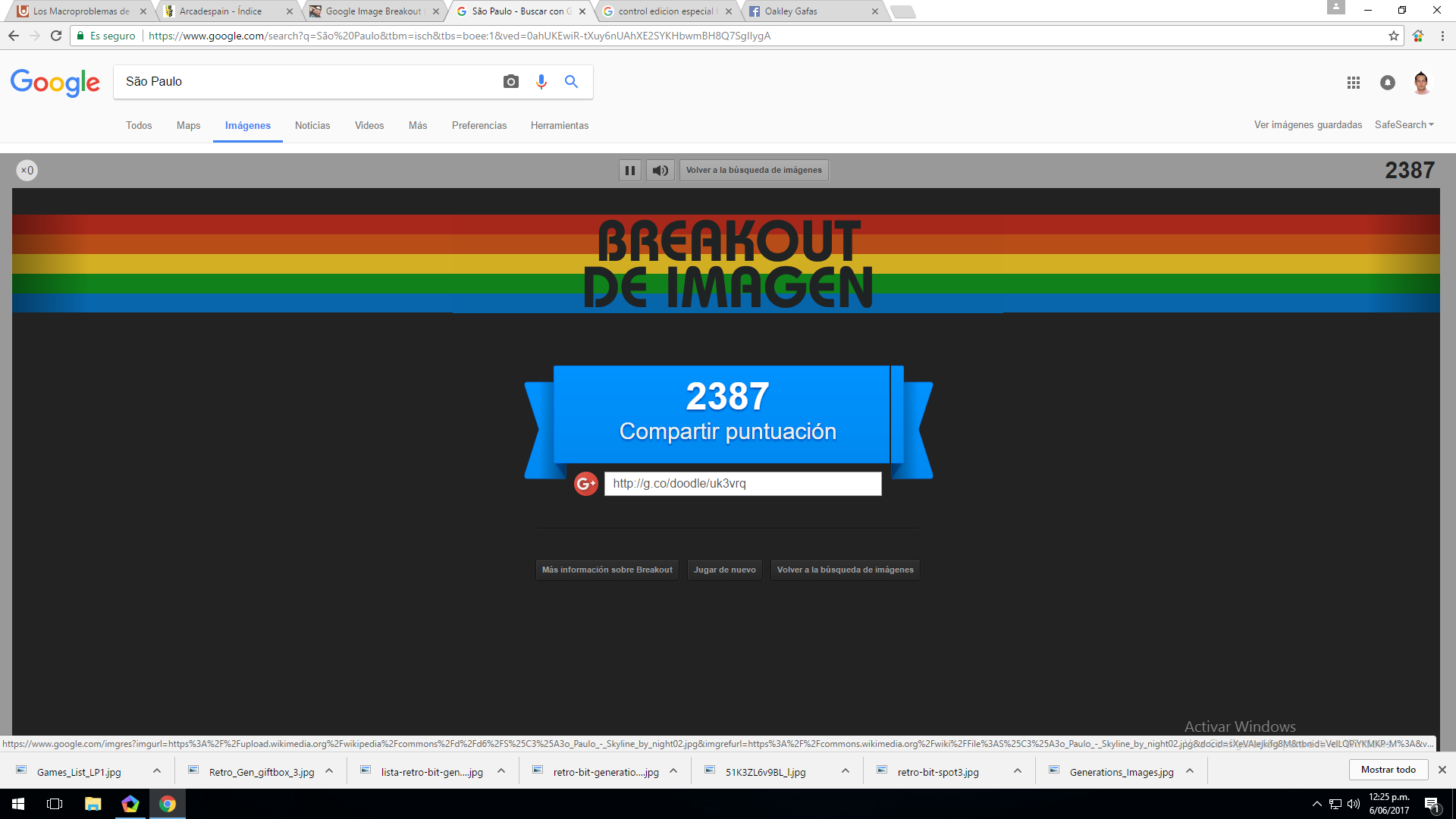 Google Image Breakout 2,387 points