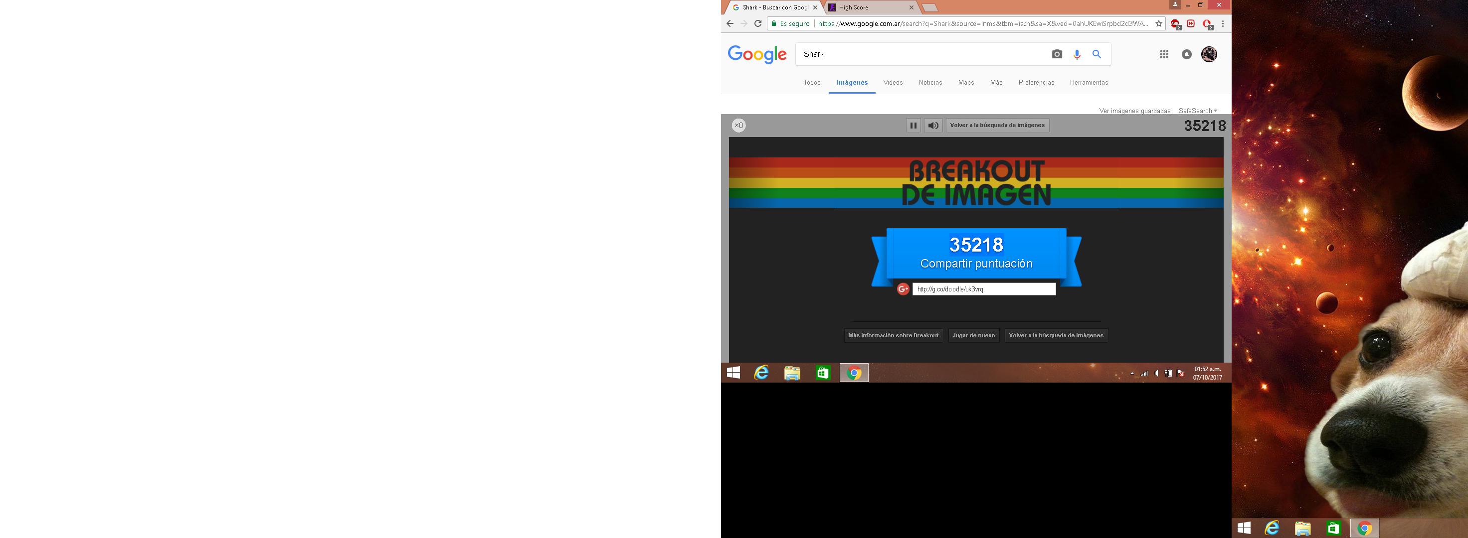 Google Image Breakout 35,218 points