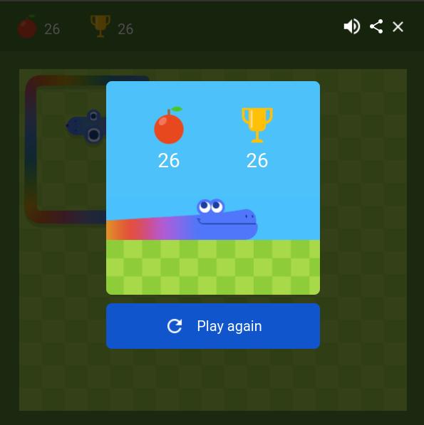 Google Snake 26 points