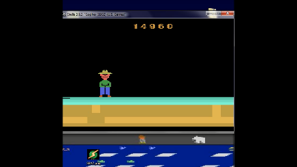 BAZ: Gopher (Atari 2600 Emulated Novice/B Mode) 14,960 points on 2020-01-21 16:36:50