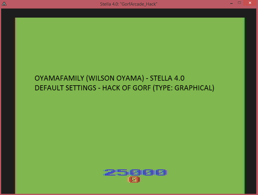 oyamafamily: Gorf Arcade (Atari 2600 Emulated) 25,000 points on 2016-04-03 19:38:04
