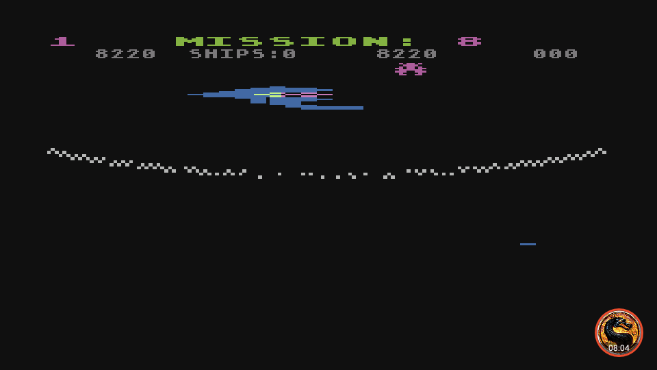 omargeddon: Gorf (Atari 5200 Emulated) 8,220 points on 2019-09-26 20:05:36