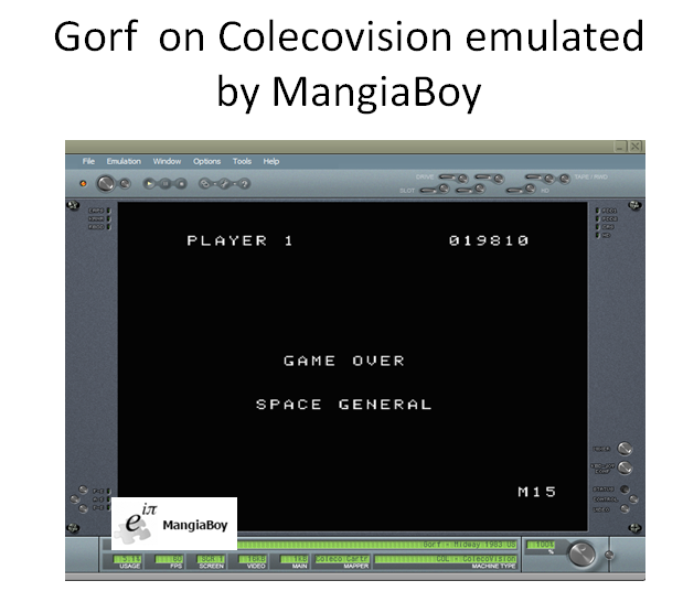MangiaBoy: Gorf (Colecovision Emulated) 19,810 points on 2016-04-04 13:52:36