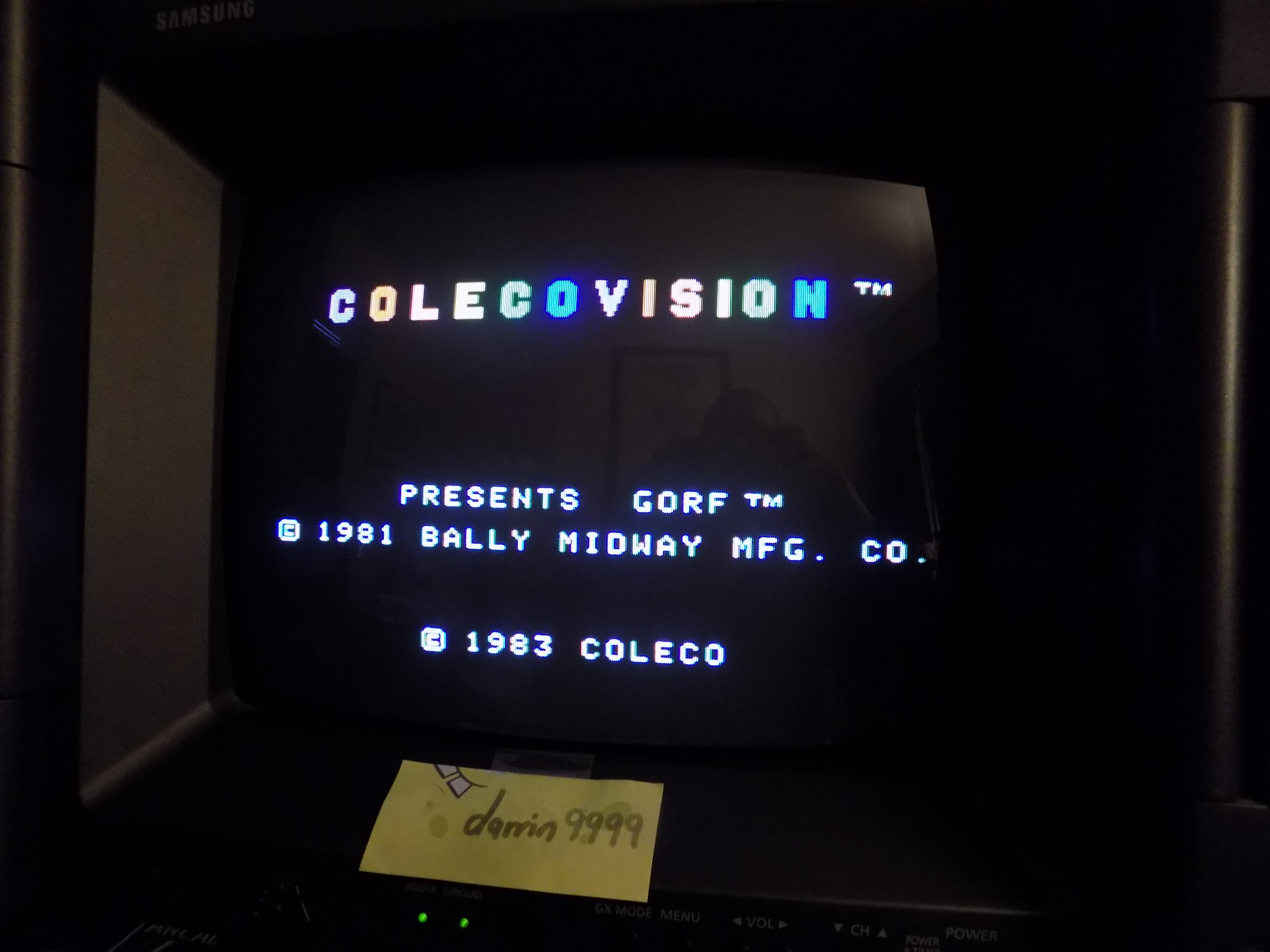 darrin9999: Gorf (Colecovision) 14,200 points on 2017-01-18 07:27:50