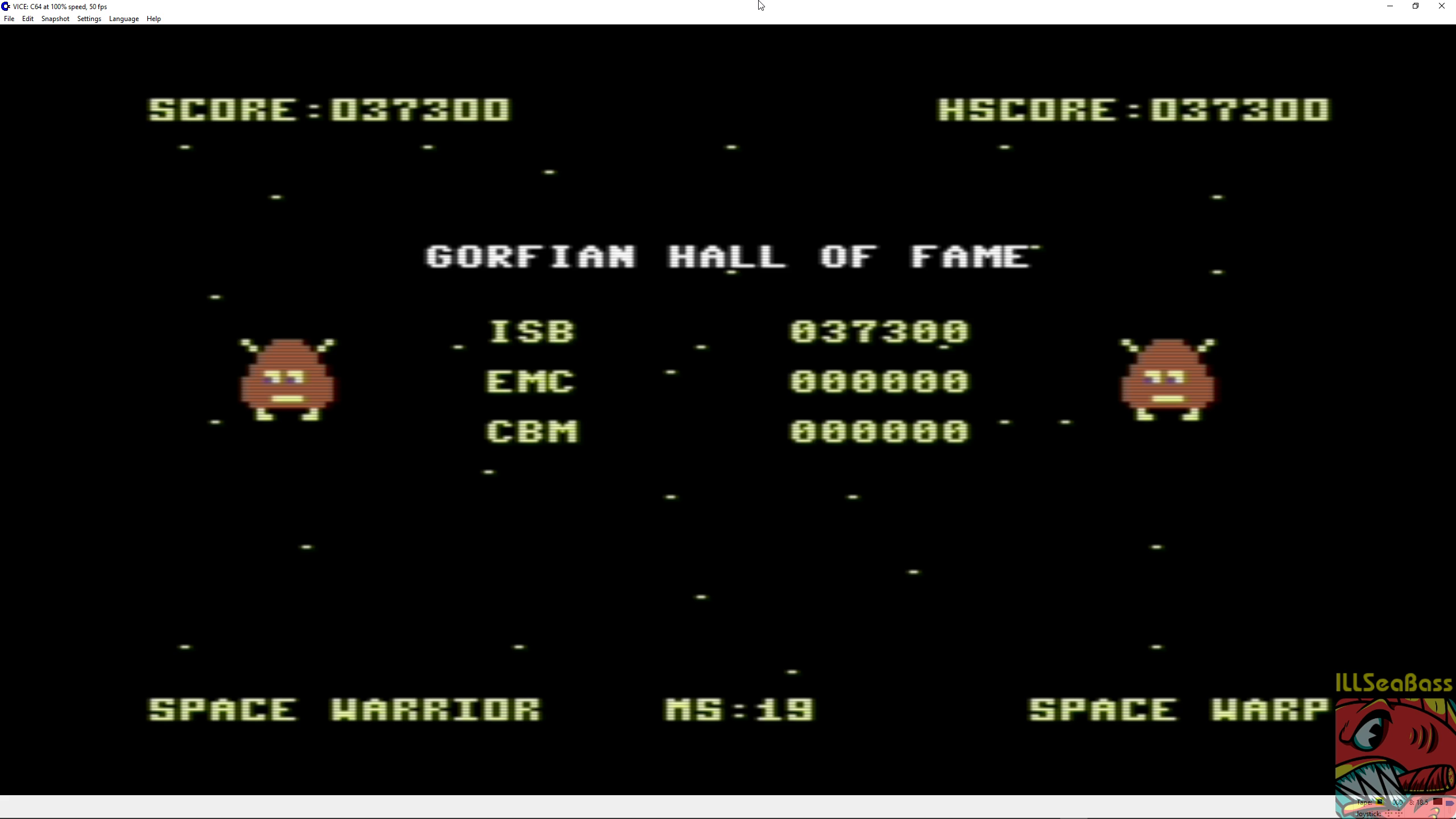 ILLSeaBass: Gorf (Commodore 64 Emulated) 37,300 points on 2018-08-21 08:22:18