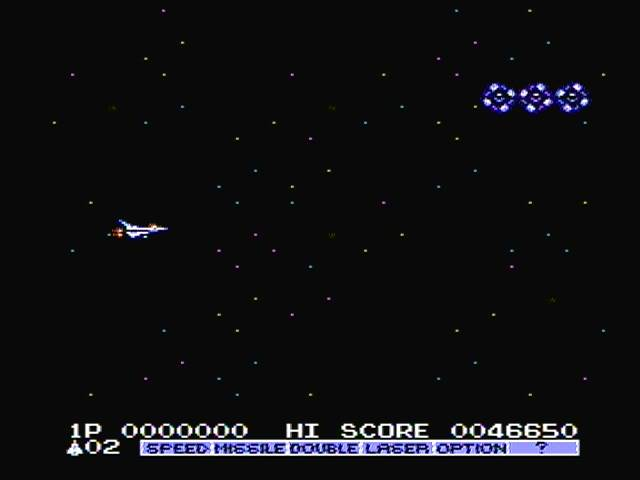derek: Gradius 2 (NES/Famicom) 46,650 points on 2016-11-09 12:29:00
