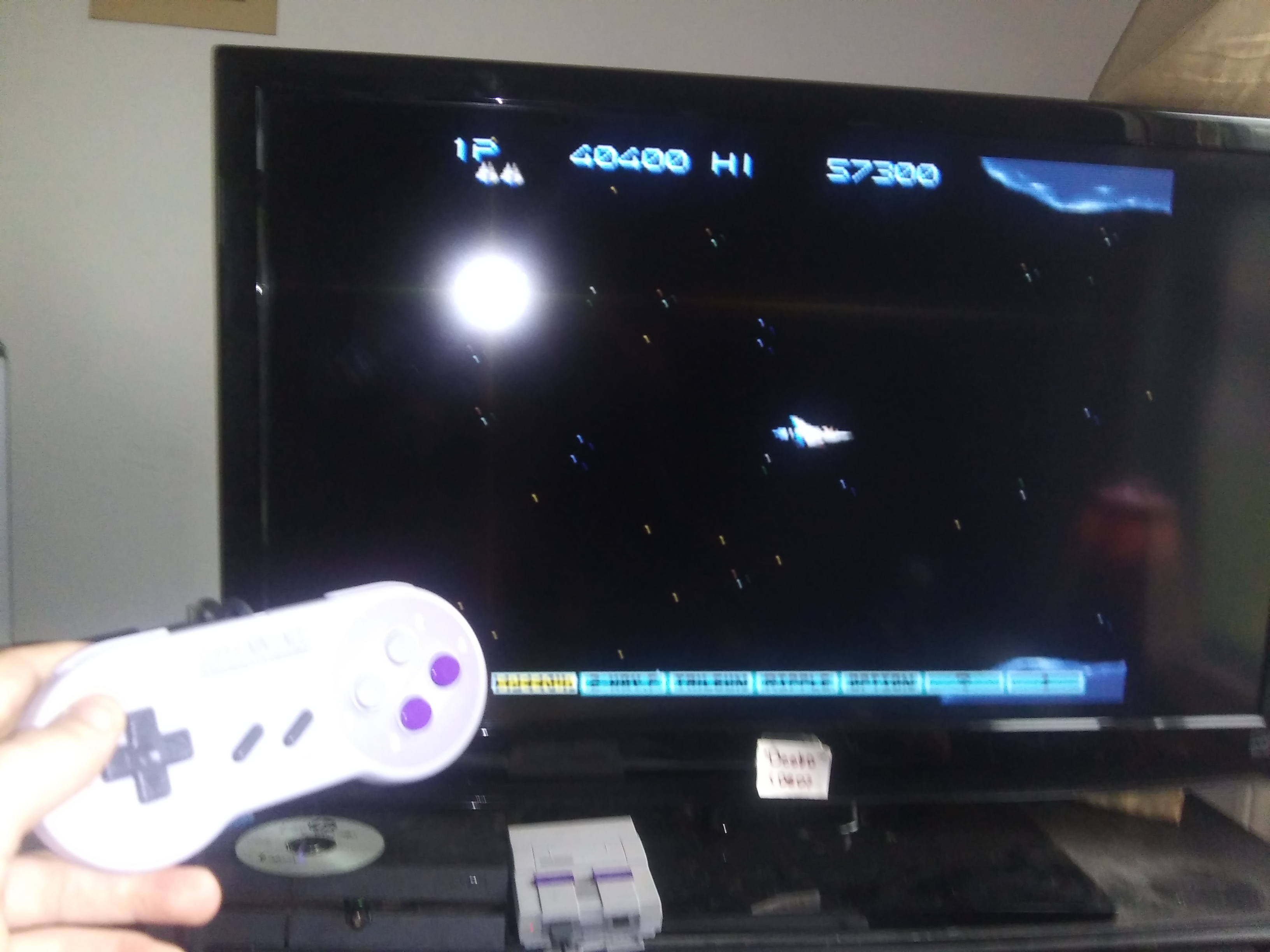 Deebo: Gradius 3 (SNES/Super Famicom Emulated) 40,400 points on 2019-07-16 19:30:47