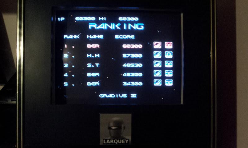 Larquey: Gradius III (SNES/Super Famicom Emulated) 60,300 points on 2018-04-01 14:16:17