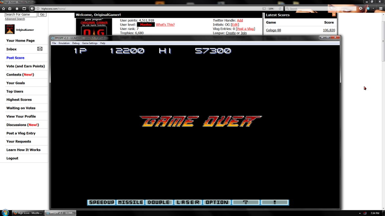 OriginalGamer: Gradius Portable [aka Gradius Collection]: Gradius III (PSP Emulated) 12,200 points on 2018-02-03 23:28:53