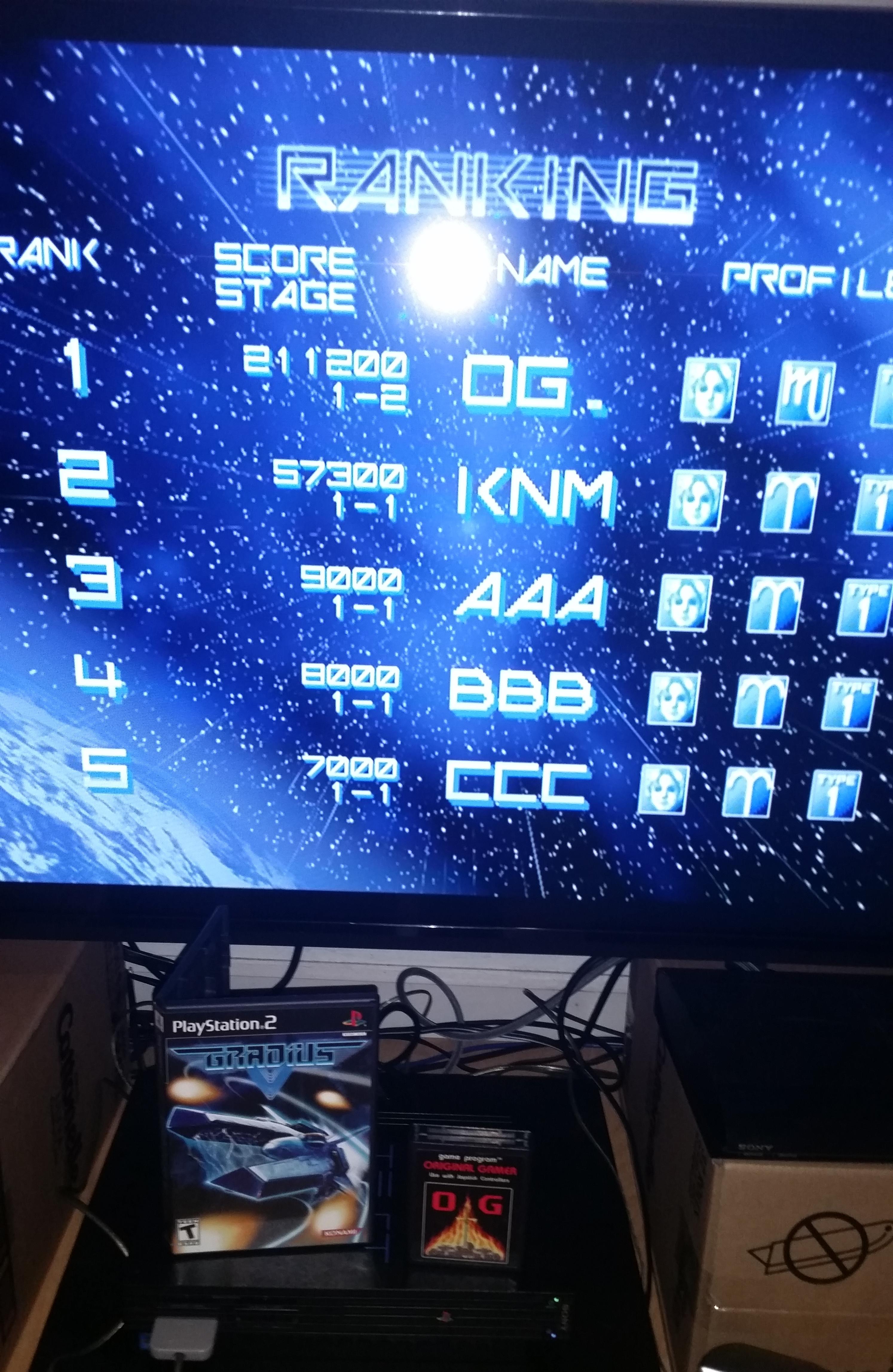 OriginalGamer: Gradius V [Normal] (Playstation 2) 211,200 points on 2015-10-22 19:01:21
