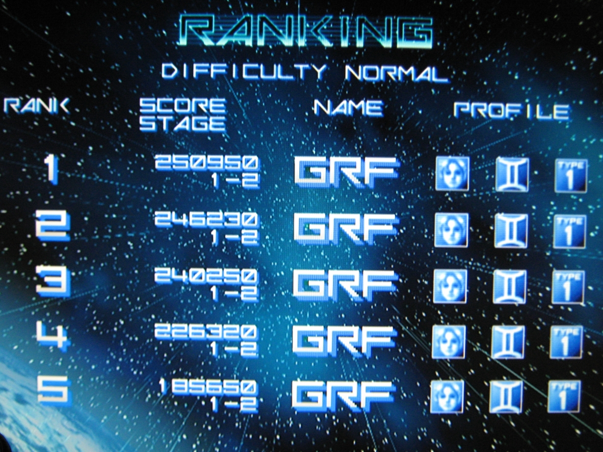 Gradius V [Normal] 250,950 points