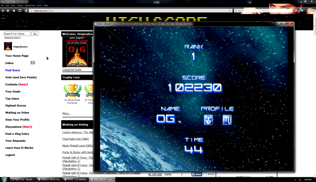 OriginalGamer: Gradius V [Normal] (Playstation 2 Emulated) 102,230 points on 2016-07-10 01:51:47