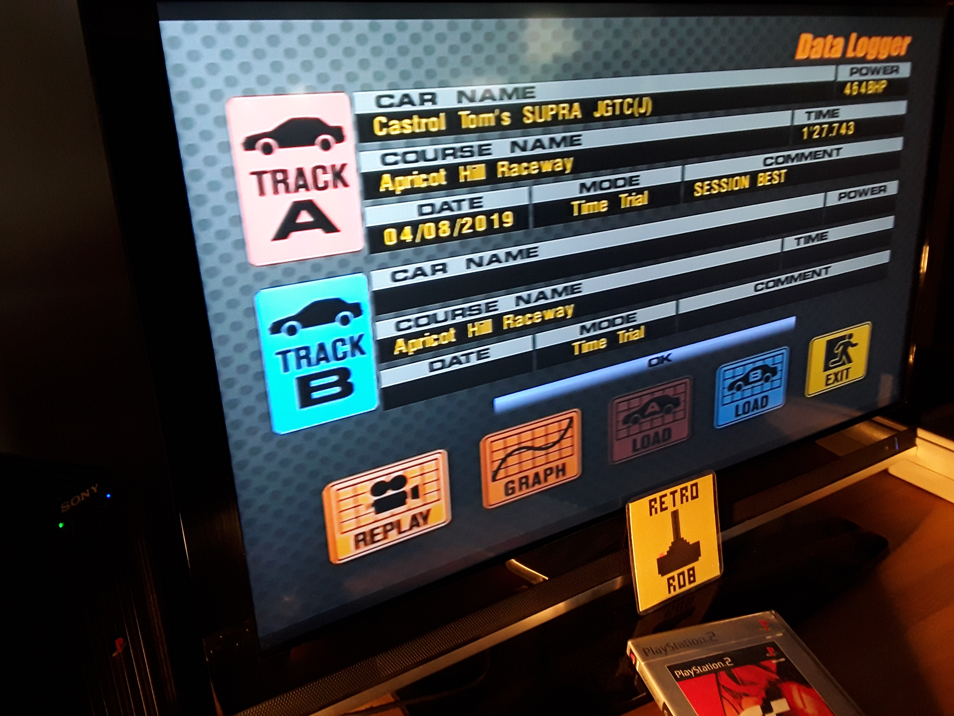RetroRob: Gran Turismo 3: A-Spec [Time Trial] [Apricot Hill Raceway] (Playstation 2) 0:01:27.743 points on 2019-08-07 13:25:38