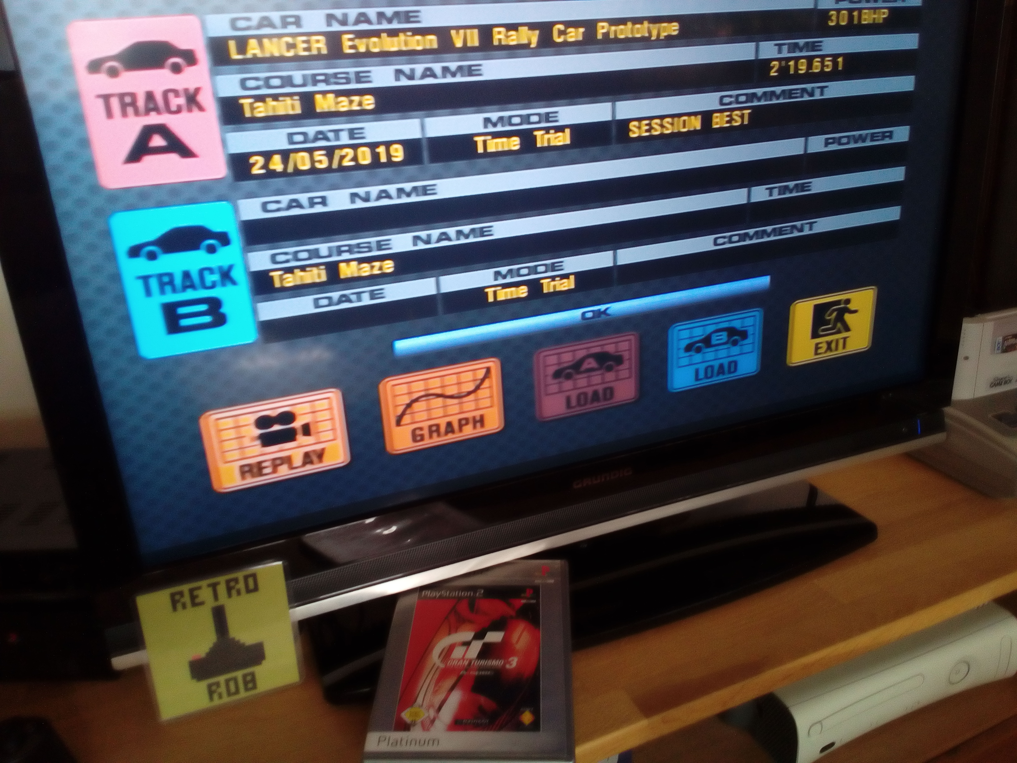 RetroRob: Gran Turismo 3: A-Spec [Time Trial] [Tahiti Maze] (Playstation 2) 0:02:19.651 points on 2019-05-24 11:32:30
