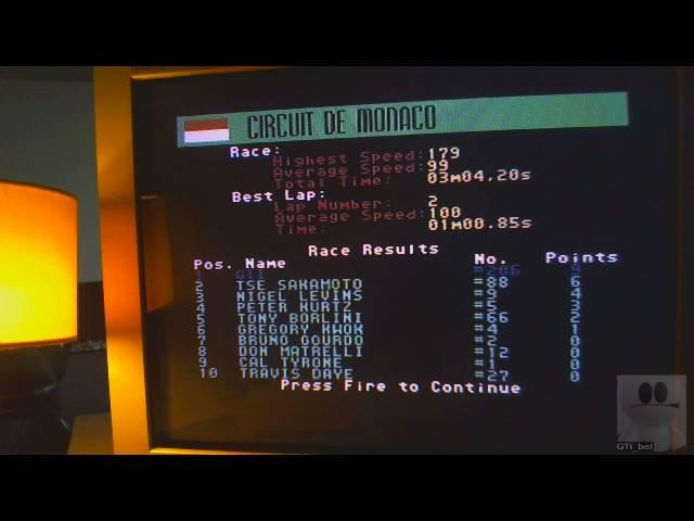GTibel: Grand Prix Circuit [Circuit De Monaco] [Best Lap] (Commodore 64) 0:01:00.85 points on 2019-05-18 03:01:13