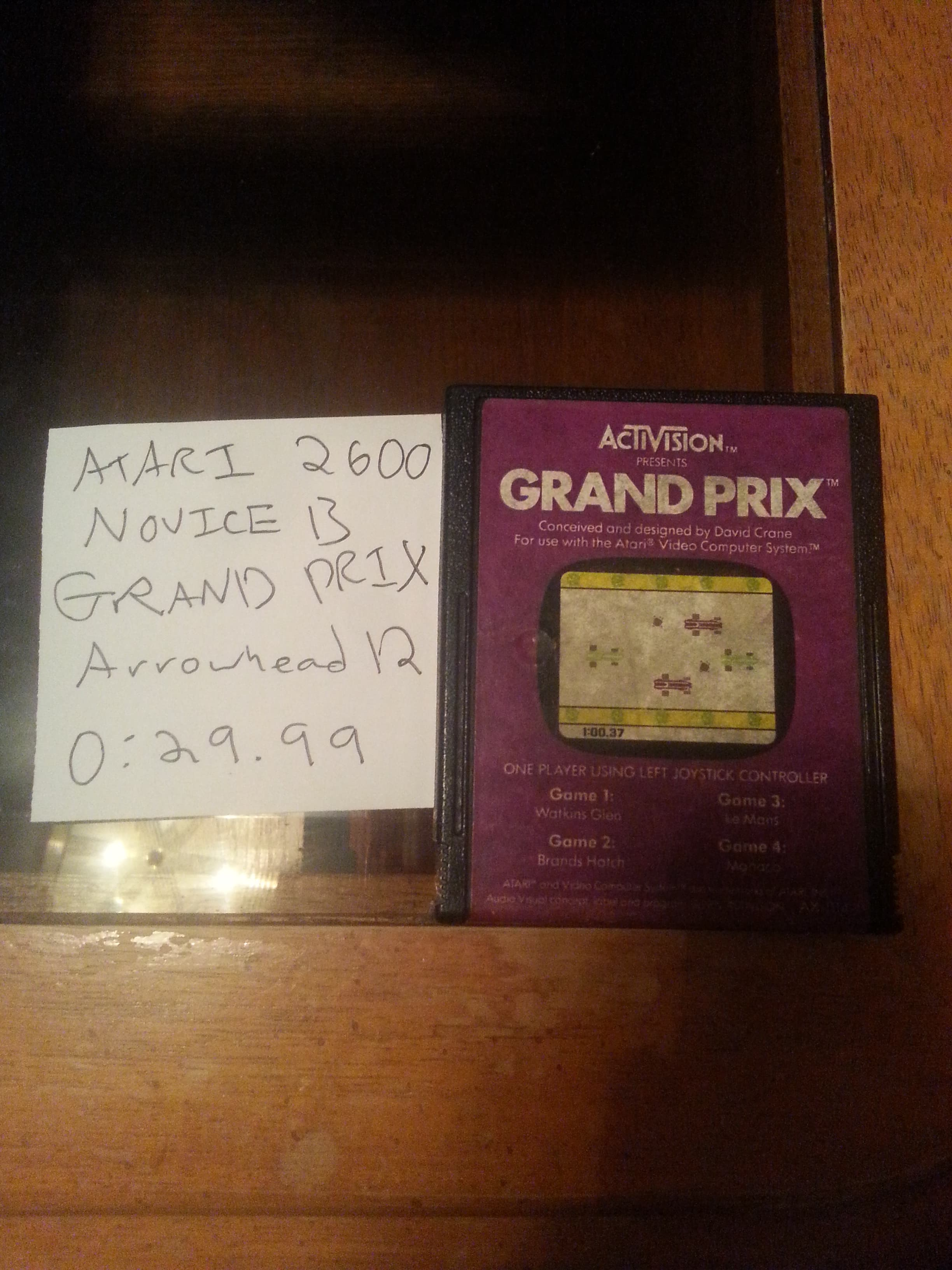 Arrowhead12: Grand Prix: Game 1 (Atari 2600 Novice/B) 0:00:29.99 points on 2018-09-29 00:40:32