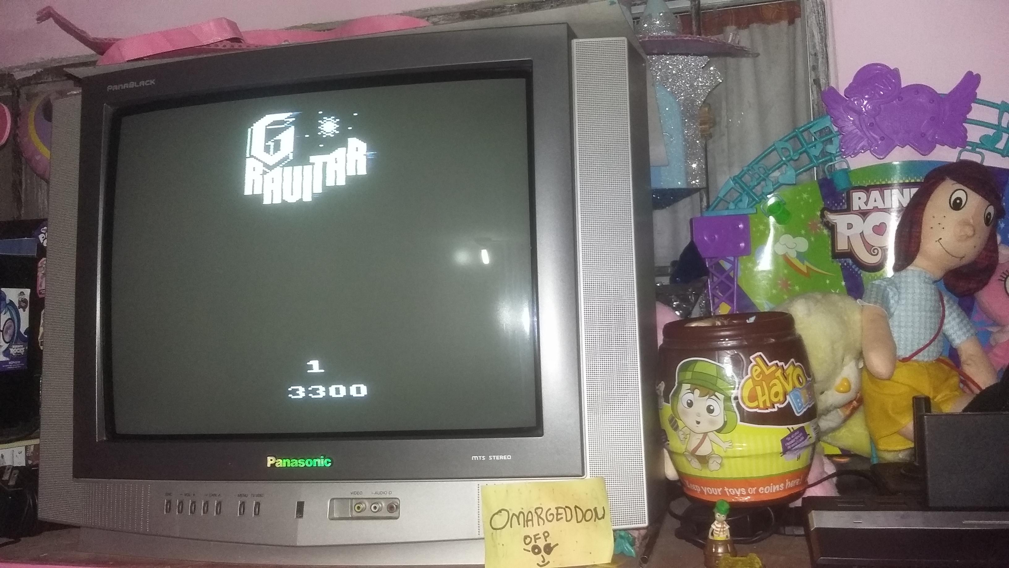 omargeddon: Gravitar (Atari 2600 Novice/B) 3,300 points on 2016-12-17 18:30:48