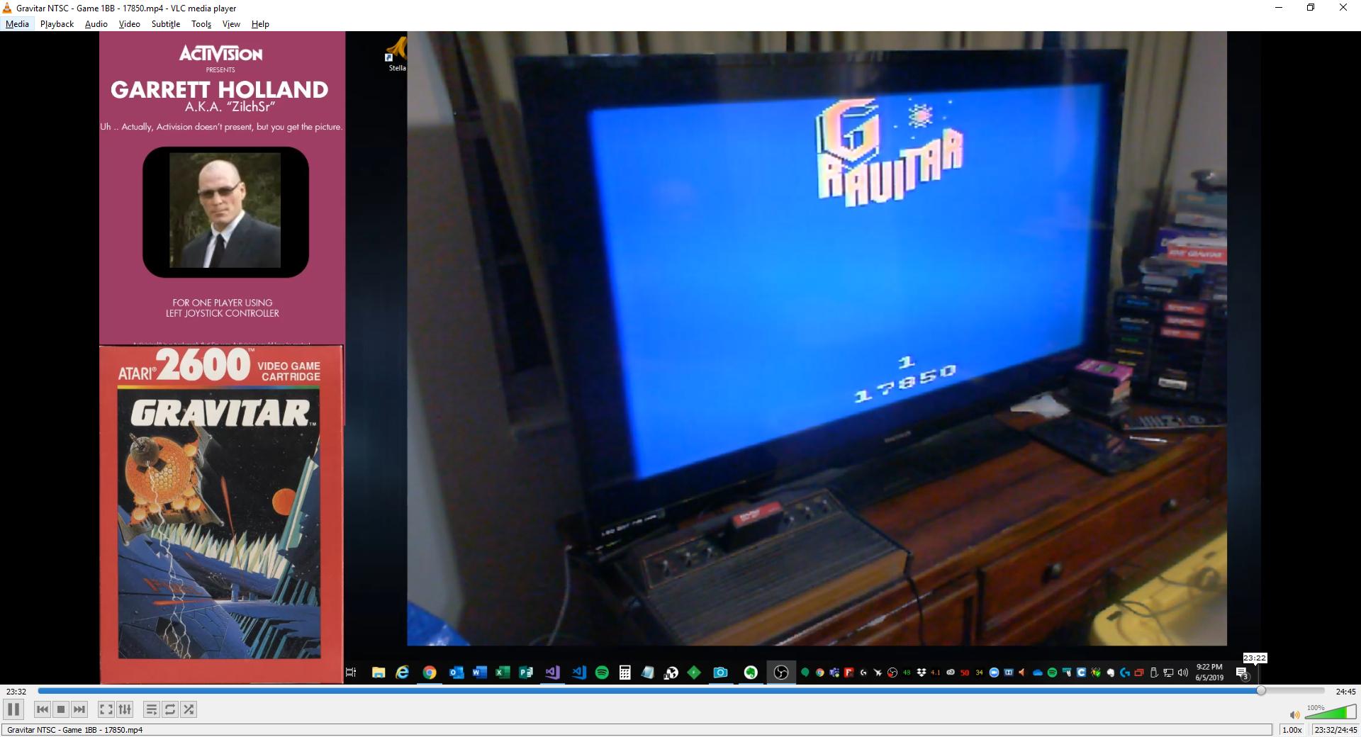 ZilchSr: Gravitar (Atari 2600 Novice/B) 17,850 points on 2019-06-05 21:34:32