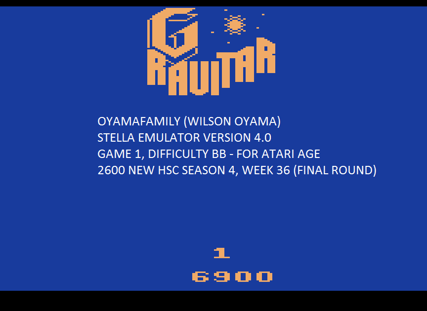 oyamafamily: Gravitar (Atari 2600 Emulated Novice/B Mode) 6,900 points on 2015-09-26 18:43:25