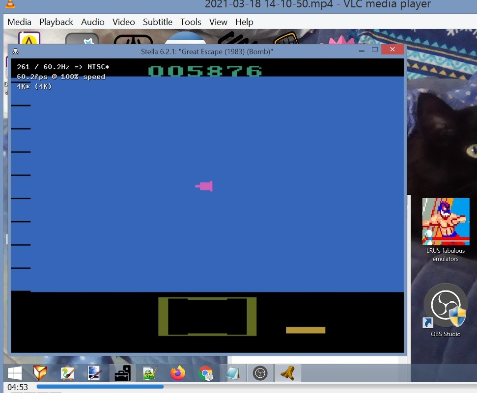 LuigiRuffolo: Great Escape (Atari 2600 Emulated) 5,876 points on 2021-03-18 11:13:55