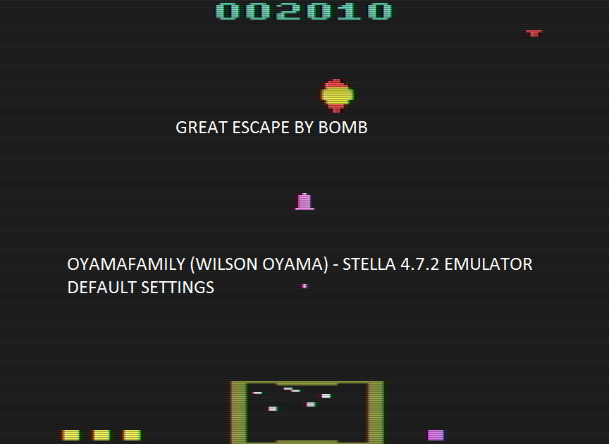 oyamafamily: Great Escape (Atari 2600 Emulated) 2,010 points on 2016-08-14 19:41:48