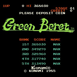 Green Beret 368,030 points