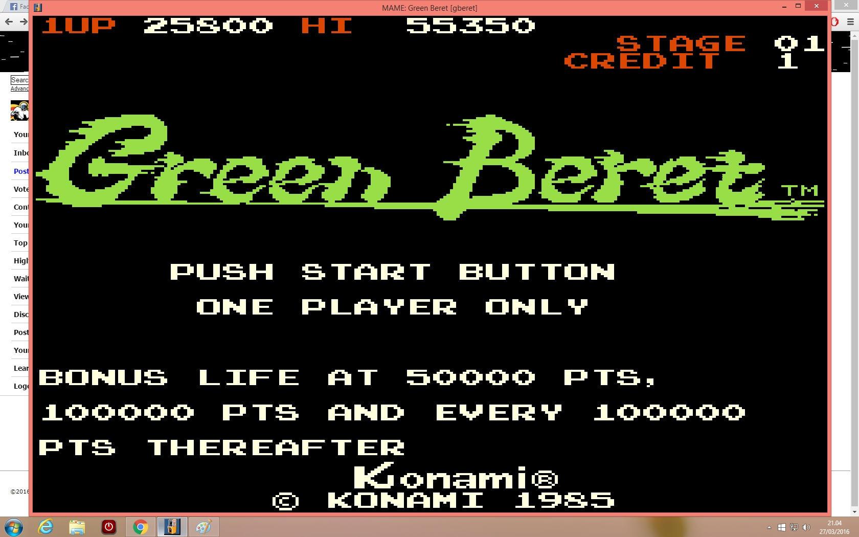 Green Beret 25,800 points