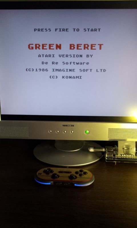 Larquey: Green Beret (Atari 400/800/XL/XE Emulated) 360 points on 2017-02-17 10:18:16