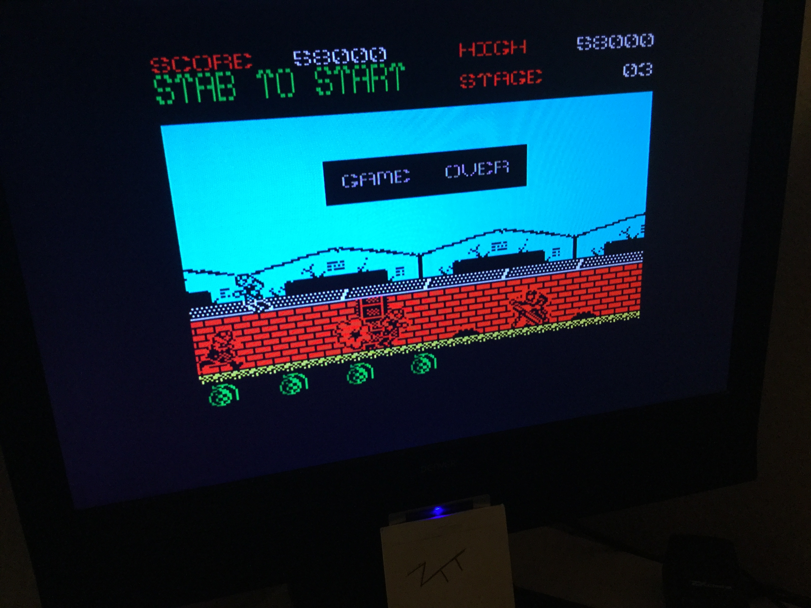 Frankie: Green Beret (ZX Spectrum) 58,000 points on 2020-02-21 01:37:53