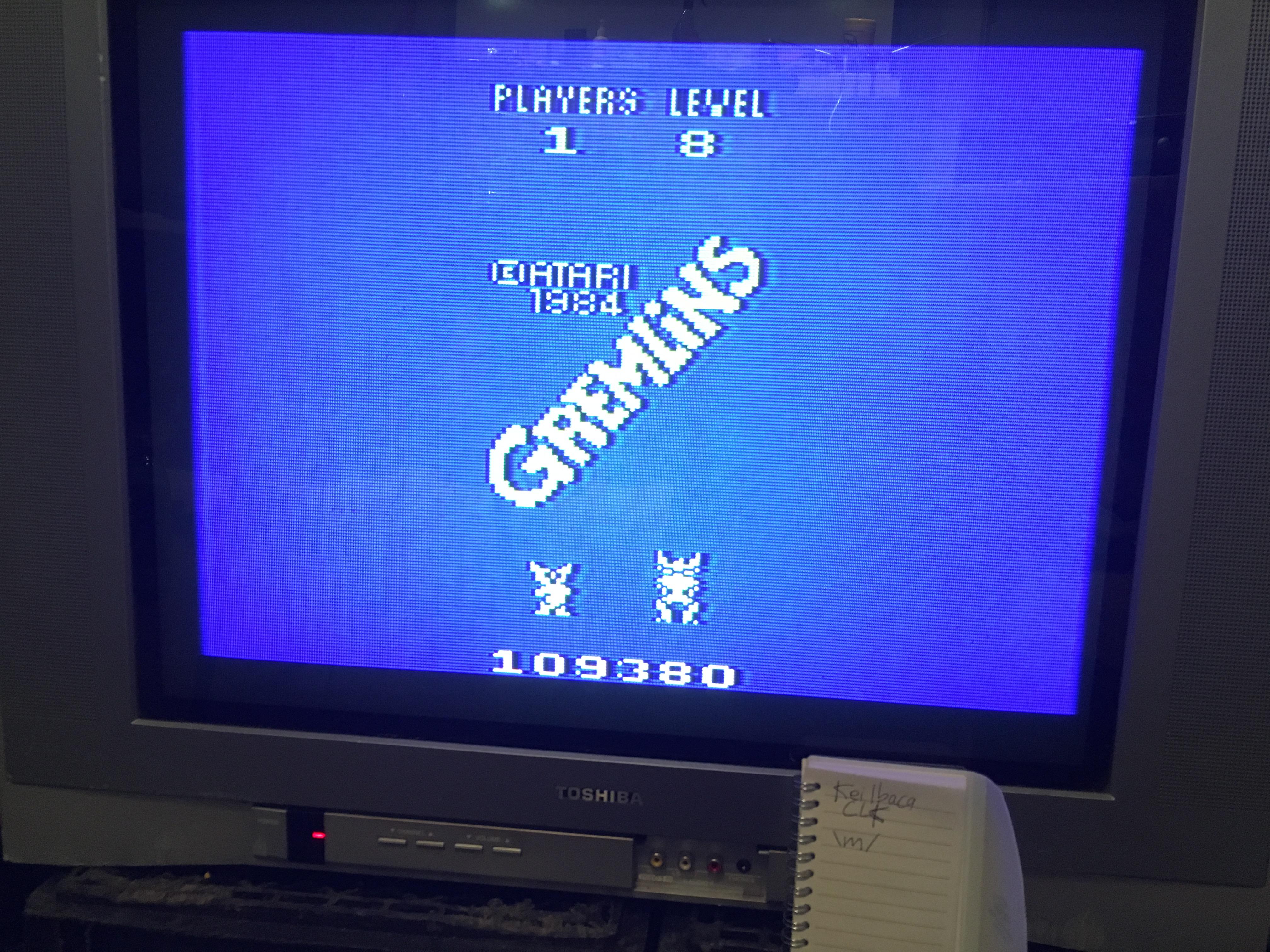 Gremlins 109,380 points