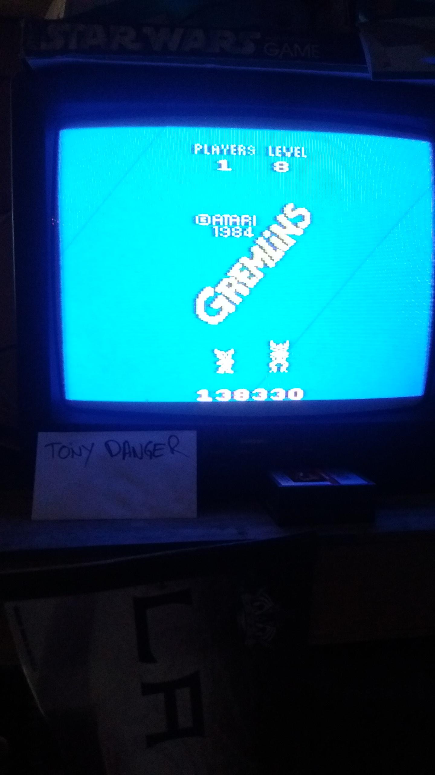 TonyDanger: Gremlins (Atari 2600 Expert/A) 138,330 points on 2016-12-02 10:10:44