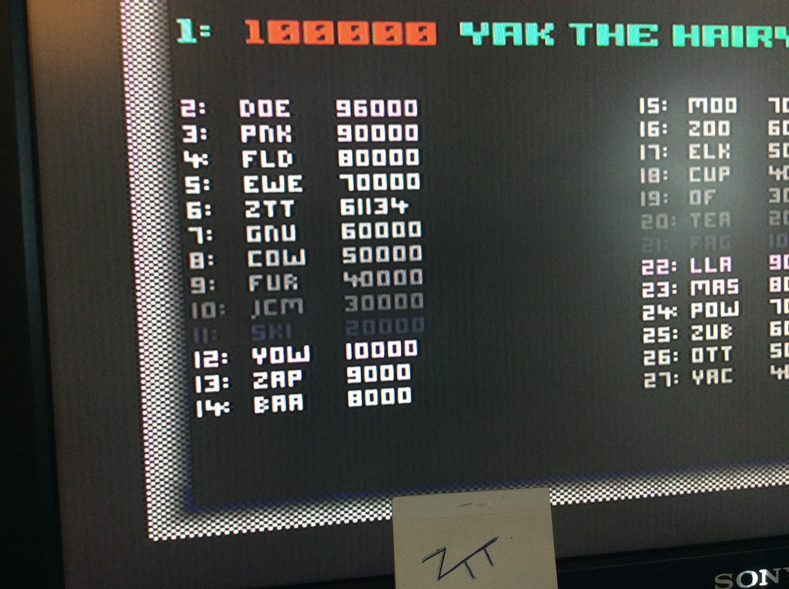 Frankie: Grid Runner [Llamasoft] (Amiga) 61,134 points on 2016-08-11 11:56:00